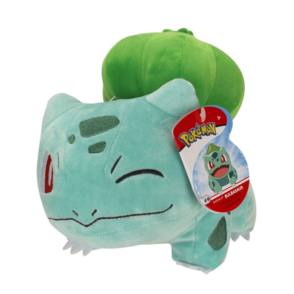 Pokemon Pluche - Bulbasaur knuffel 20 cm, Groen