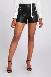 Morgan high waist slim fit short zwart, Zwart