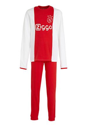 Ajax pyjama met logo rood/wit