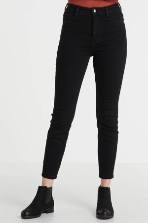 highwaist jeans 7/8 zwart