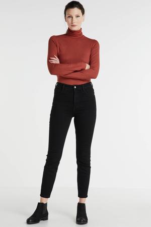 highwaist jeans 7/8 zwart