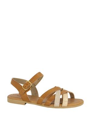 sandalen cognac/goud