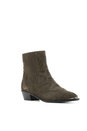 12517  suède chelsea boots bruin
