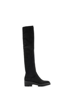Aquilia  suède overknee laarzen zwart