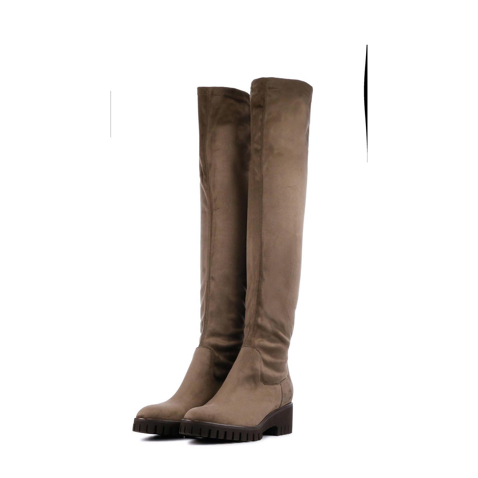 Lamica Aquilia suède overknee laarzen taupe | wehkamp