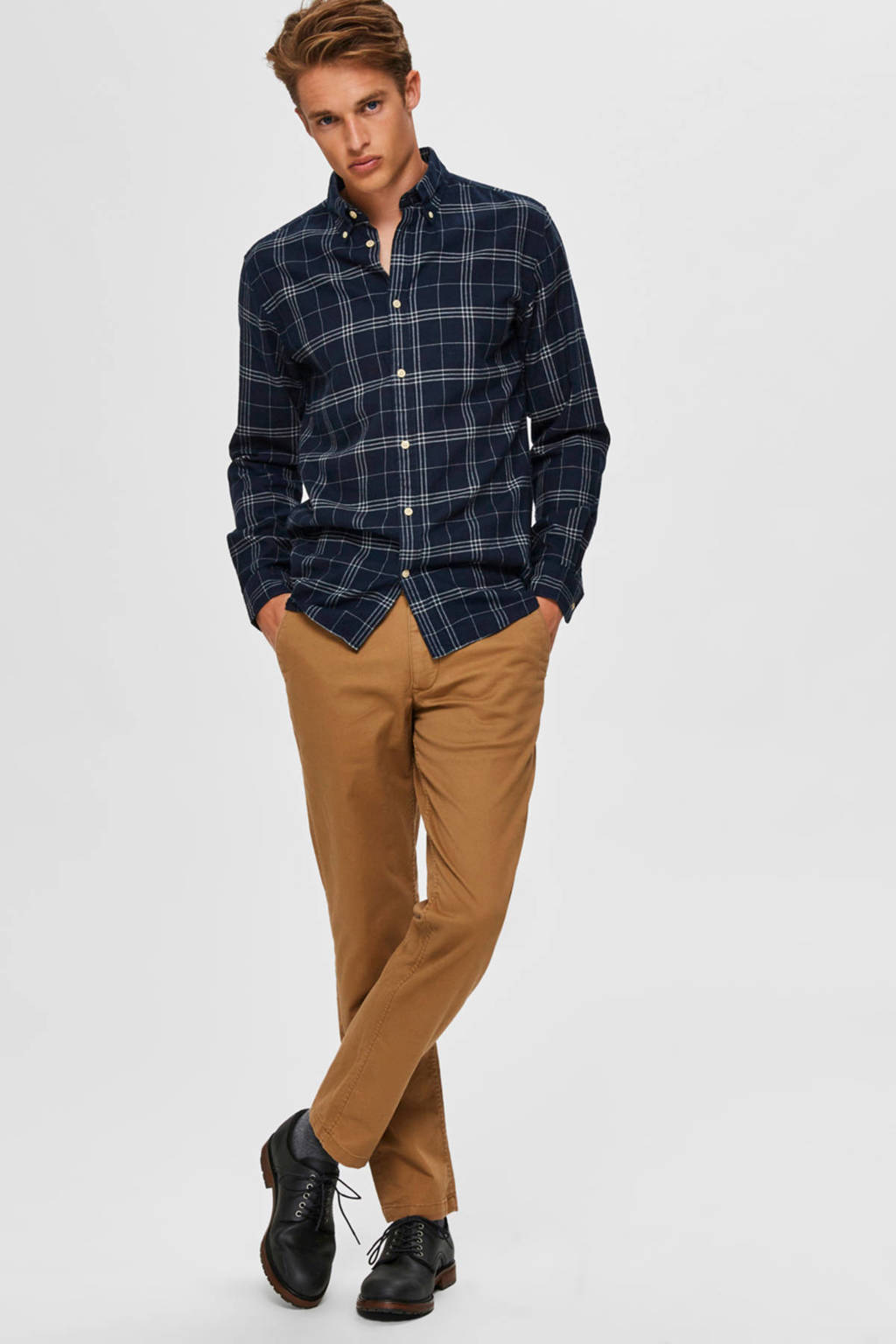 SELECTED HOMME straight fit chino camel, Camel