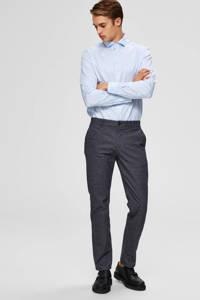 SELECTED HOMME gemêleerde slim fit chino grijsblauw, Grijsblauw