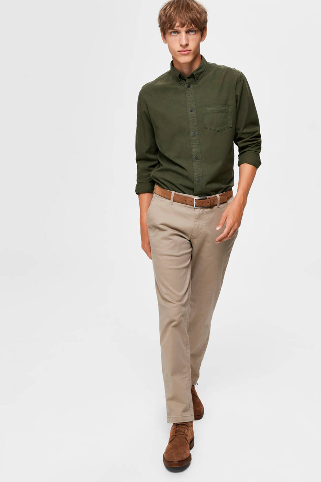 SELECTED HOMME straight fit chino beige, Beige