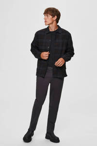 SELECTED HOMME straight fit chino donkergrijs, Donkergrijs