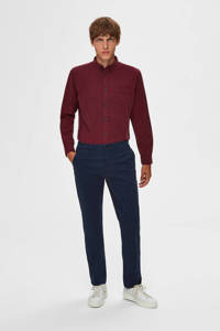 SELECTED HOMME straight fit chino donkerblauw, Donkerblauw