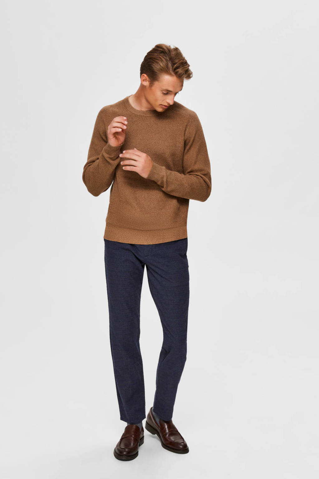 SELECTED HOMME  slim fit chino donkerblauw, Donkerblauw