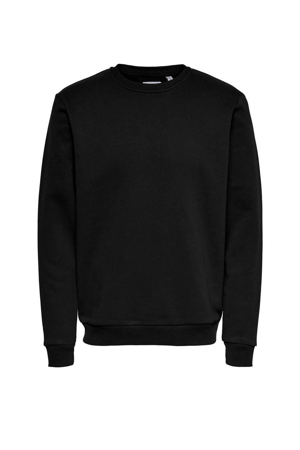 ONLY & SONS sweater zwart, Zwart