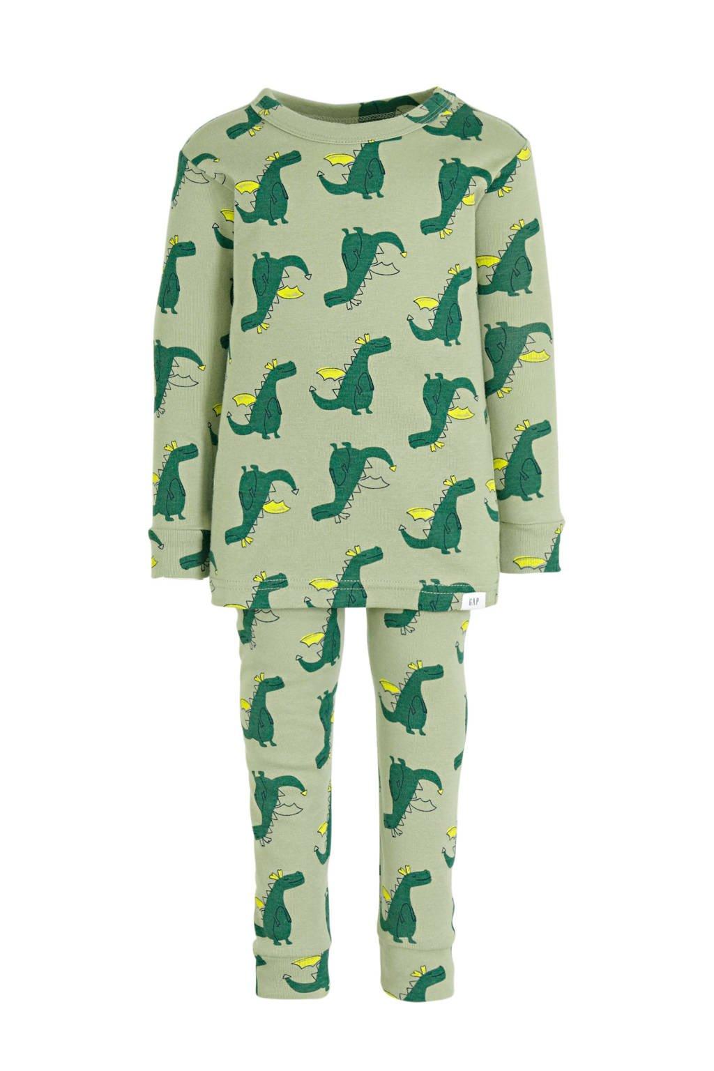 GAP   pyjama draken groen, Groen