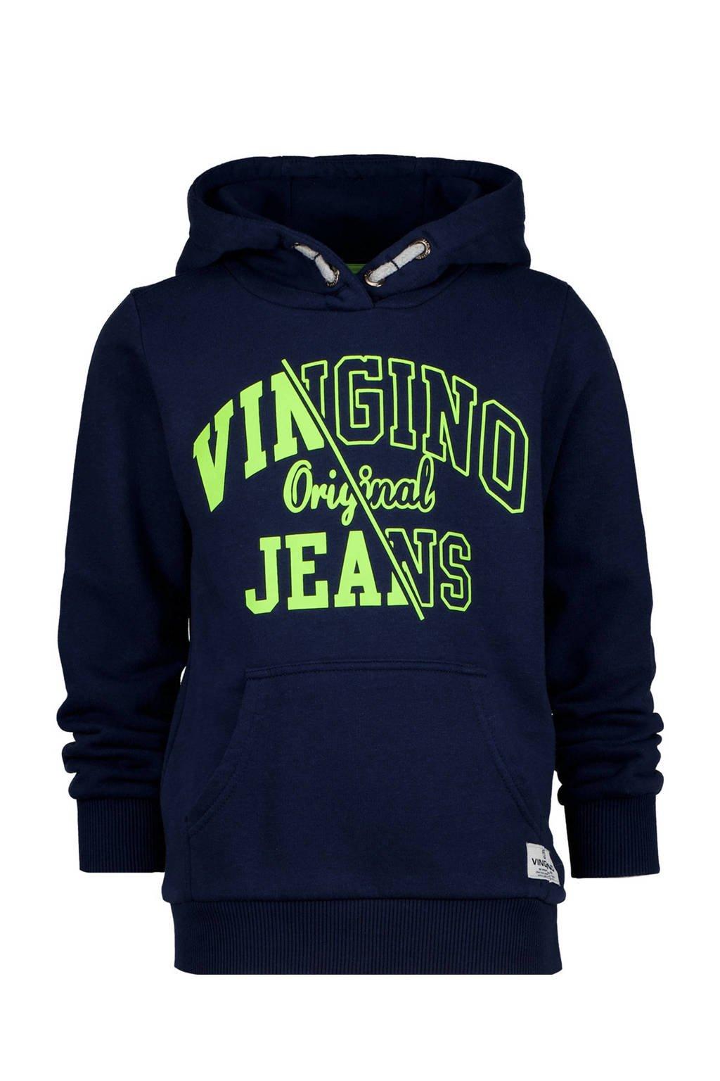 Vingino hoodie Naoki met logo donkerblauw, Donkerblauw