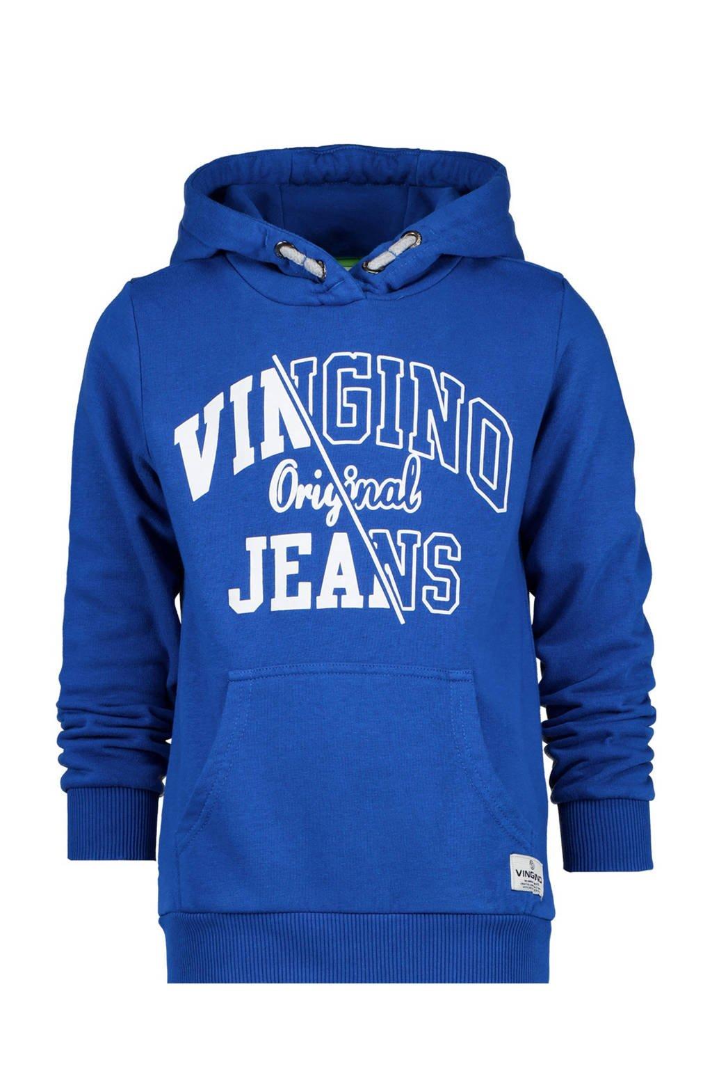 Vingino hoodie Naoki met logo blauw, Blauw