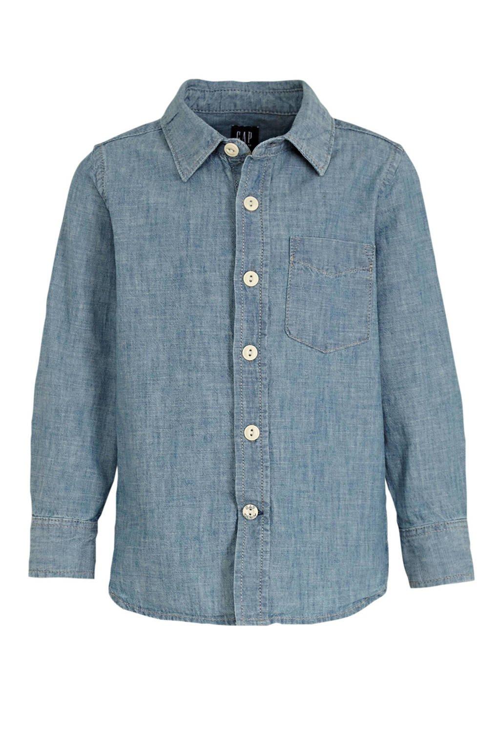 GAP overhemd blauw, Blauw