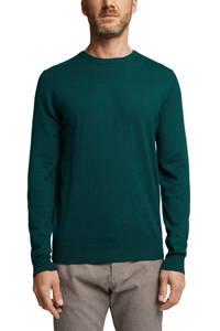 ESPRIT Men Casual fijngebreide trui groen, Groen