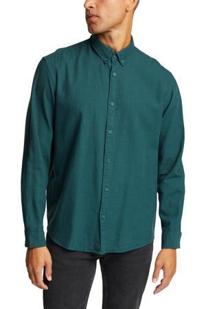 regular fit overhemd van biologisch katoen petrol