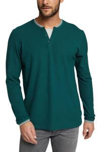 ESPRIT Men Casual longsleeve met biologisch katoen groen, Groen