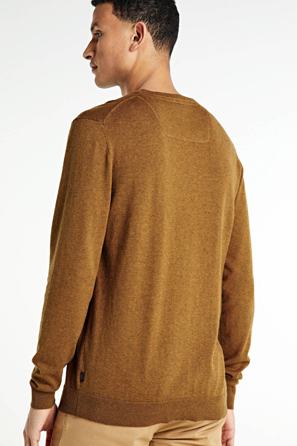 ESPRIT Men Casual fijngebreide trui camel, Camel