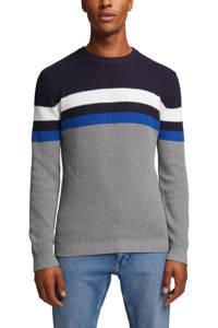 edc Men sweater grijs/blauw, Grijs/blauw