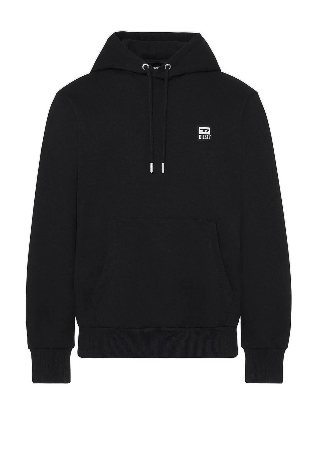 Diesel hoodie zwart, Zwart