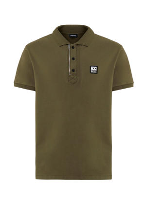 regular fit polo olijfgroen