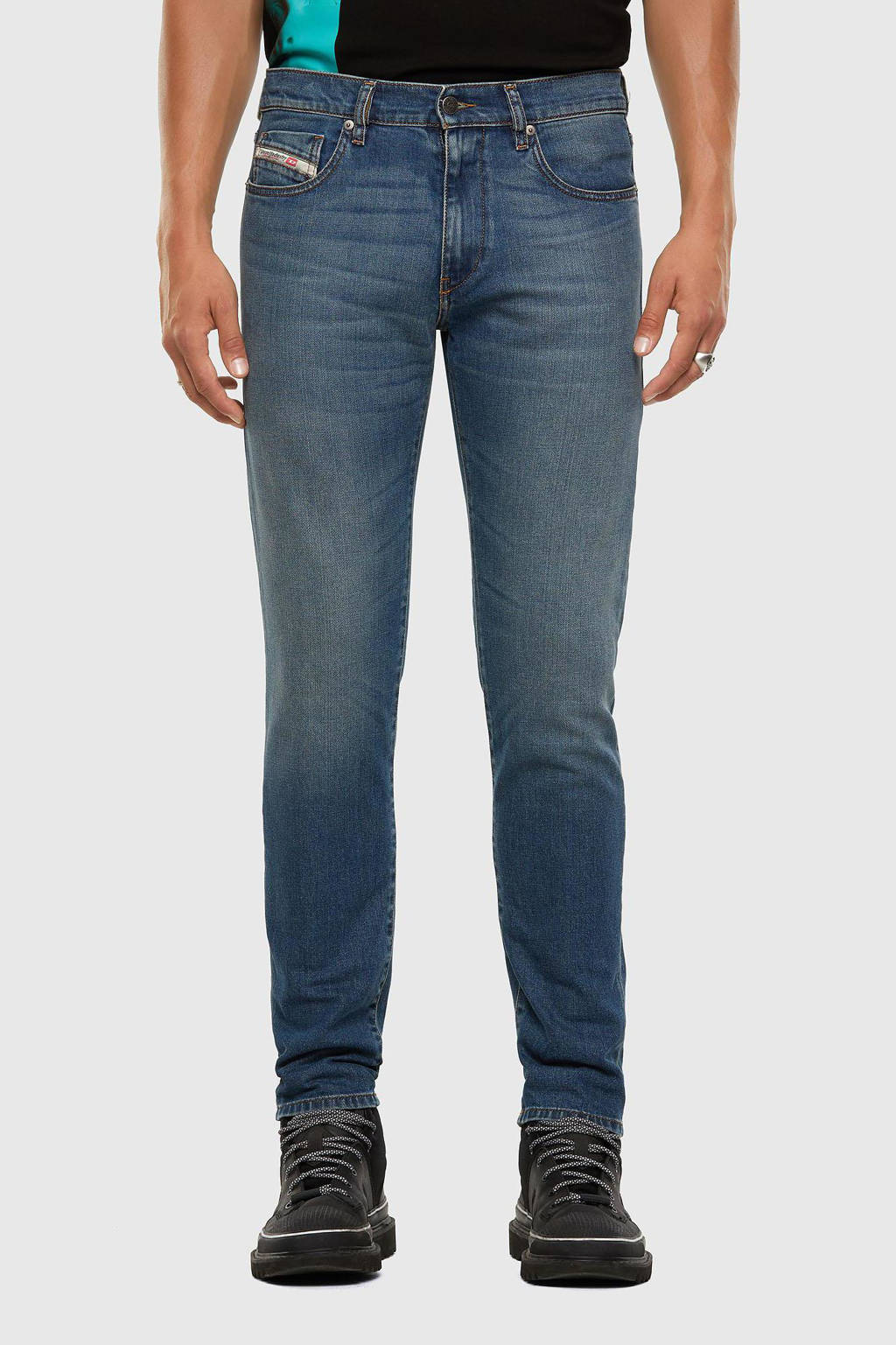 Diesel slim fit jeans D-Strukt stonewashed, Stonewashed