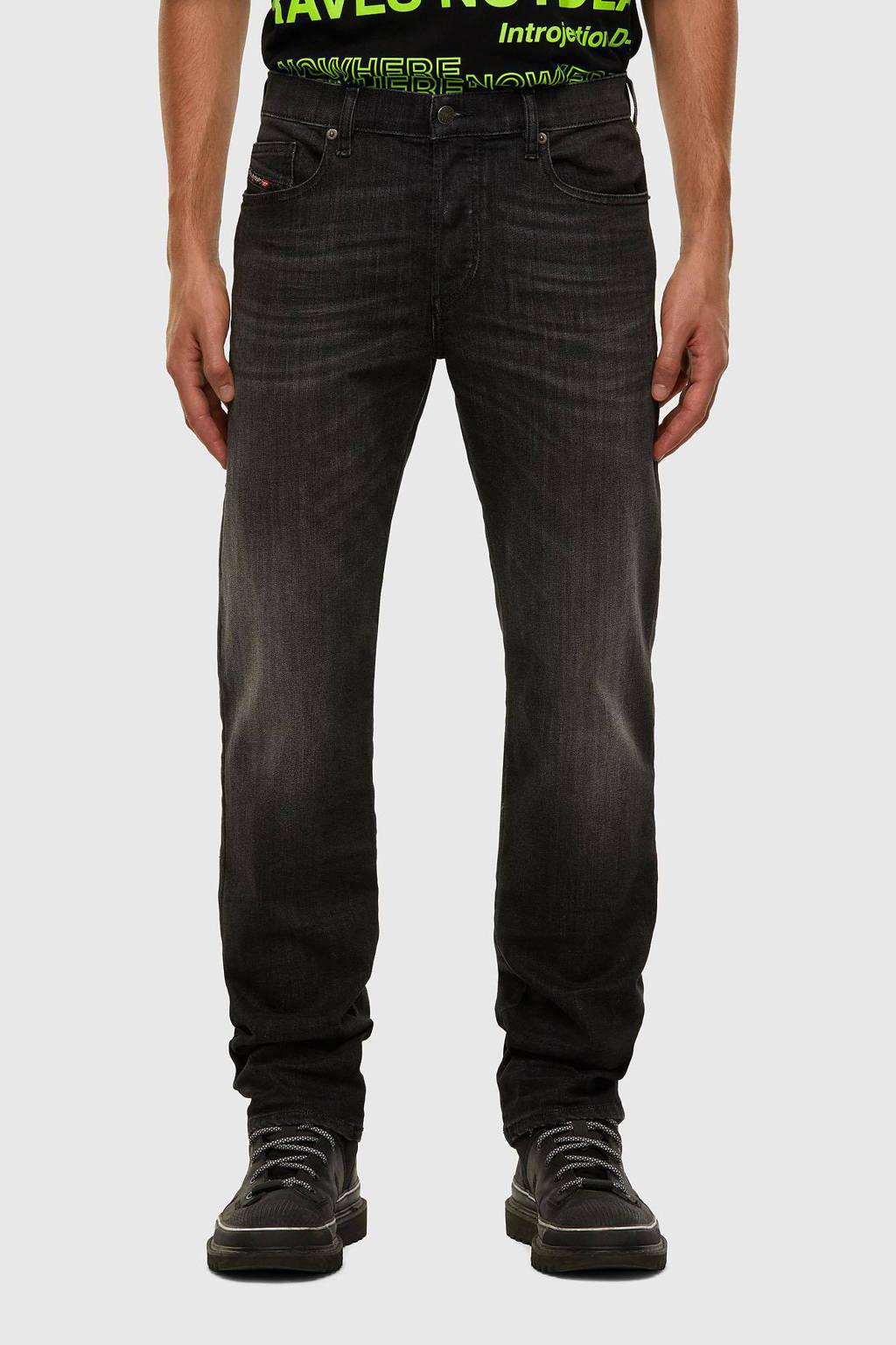 Diesel tapered fit jeans D-mihtry zwart, Zwart