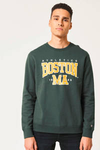America Today sweater met tekst groen, Groen