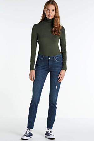 mid rise skinny jeans blauw