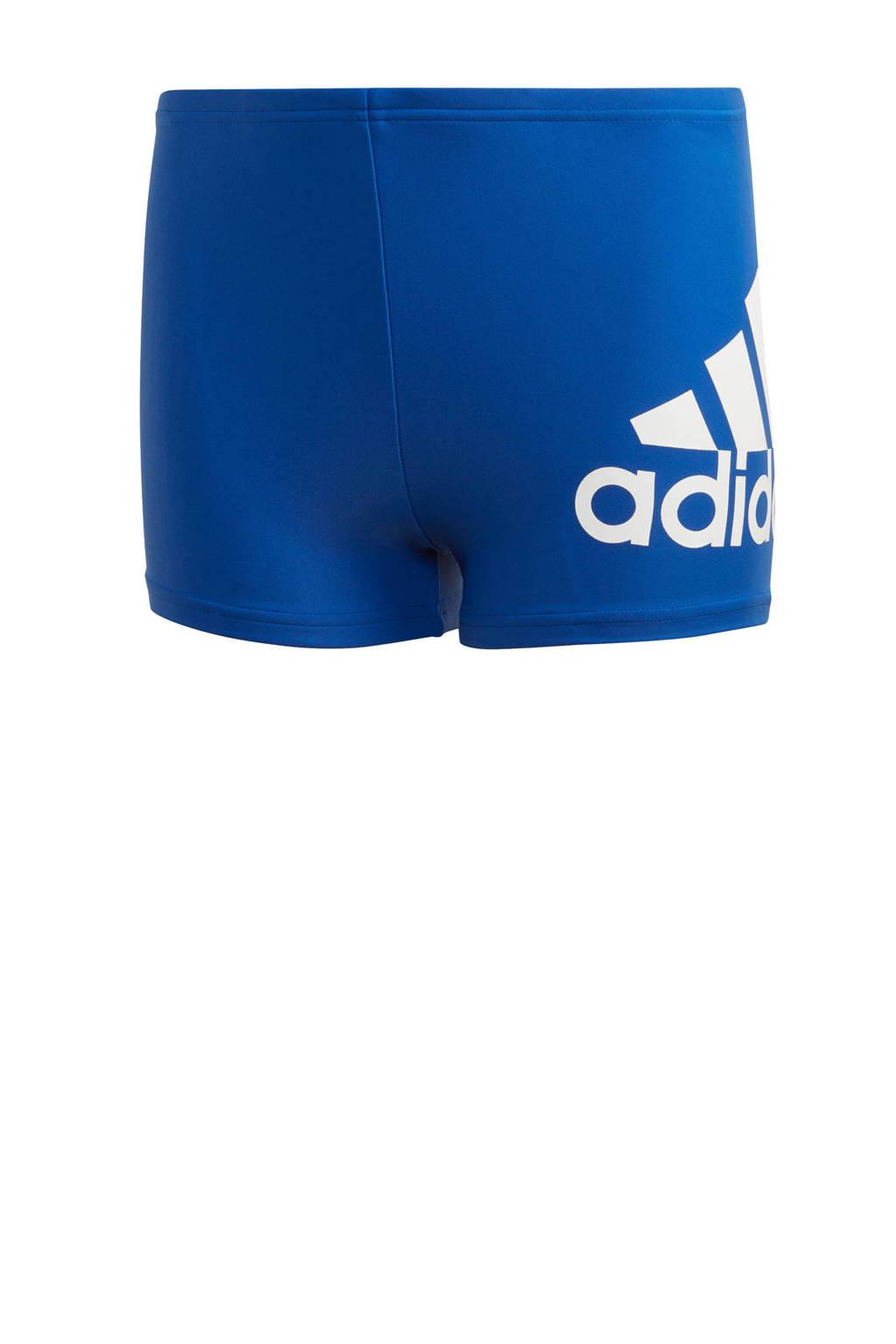 adidas Performance zwemboxer blauw, Blauw/wit
