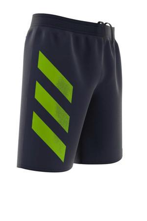 zwemshort Bold 3 stripes donkerblauw