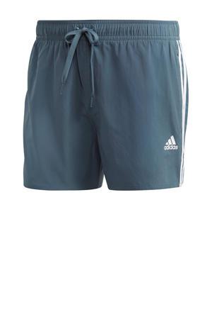 zwemshort 3-stripes grijs
