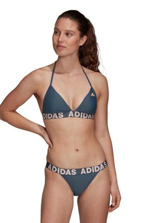 Infinitex triangel bikini grijsblauw