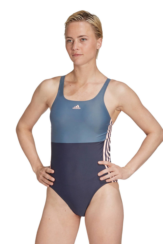 adidas Performance Infinitex sportbadpak 3-Stripes Colourblock blauw, Blauw