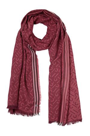 sjaal met all-over print brique