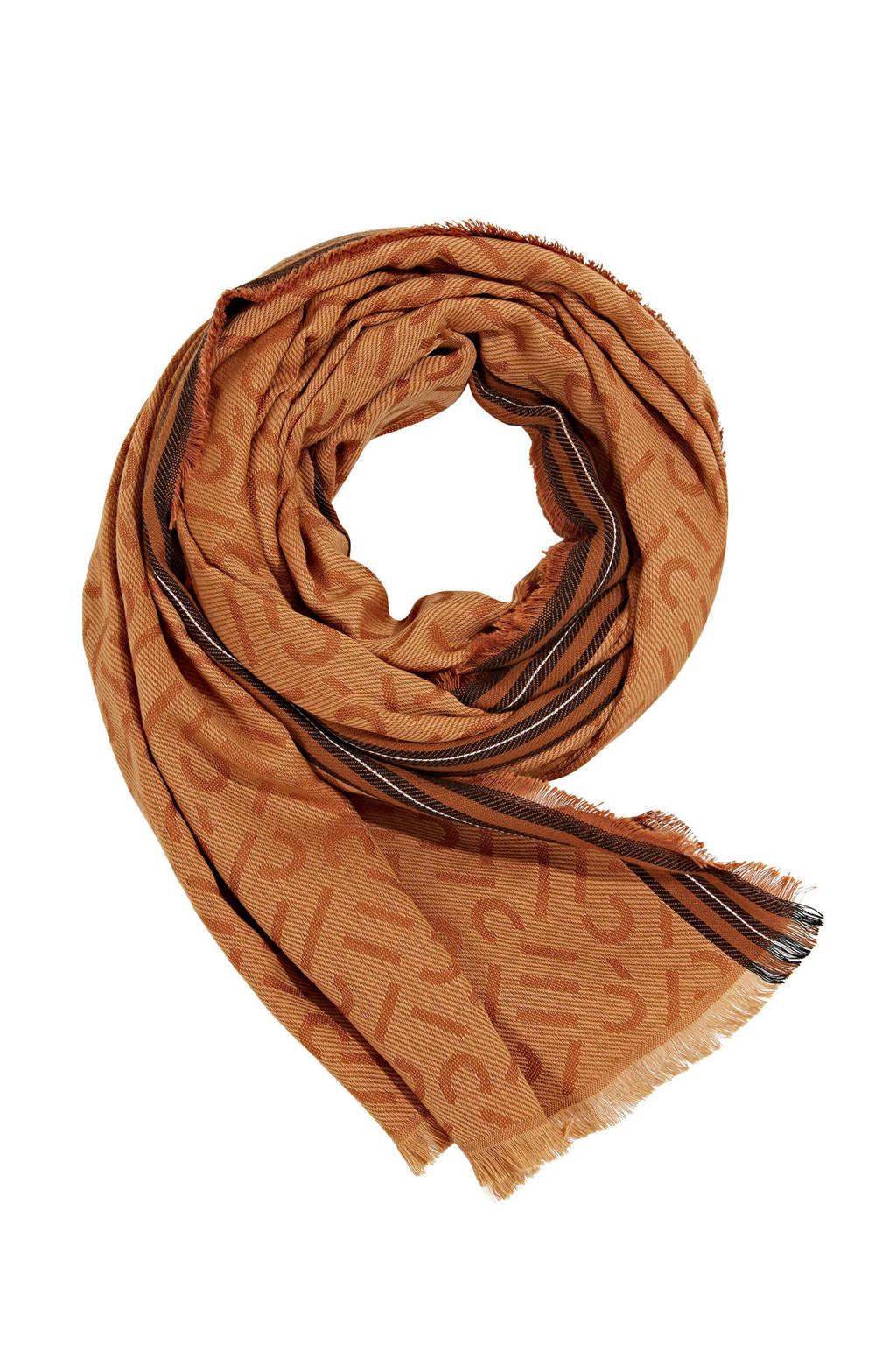 ESPRIT sjaal met all-over print camel, Camel