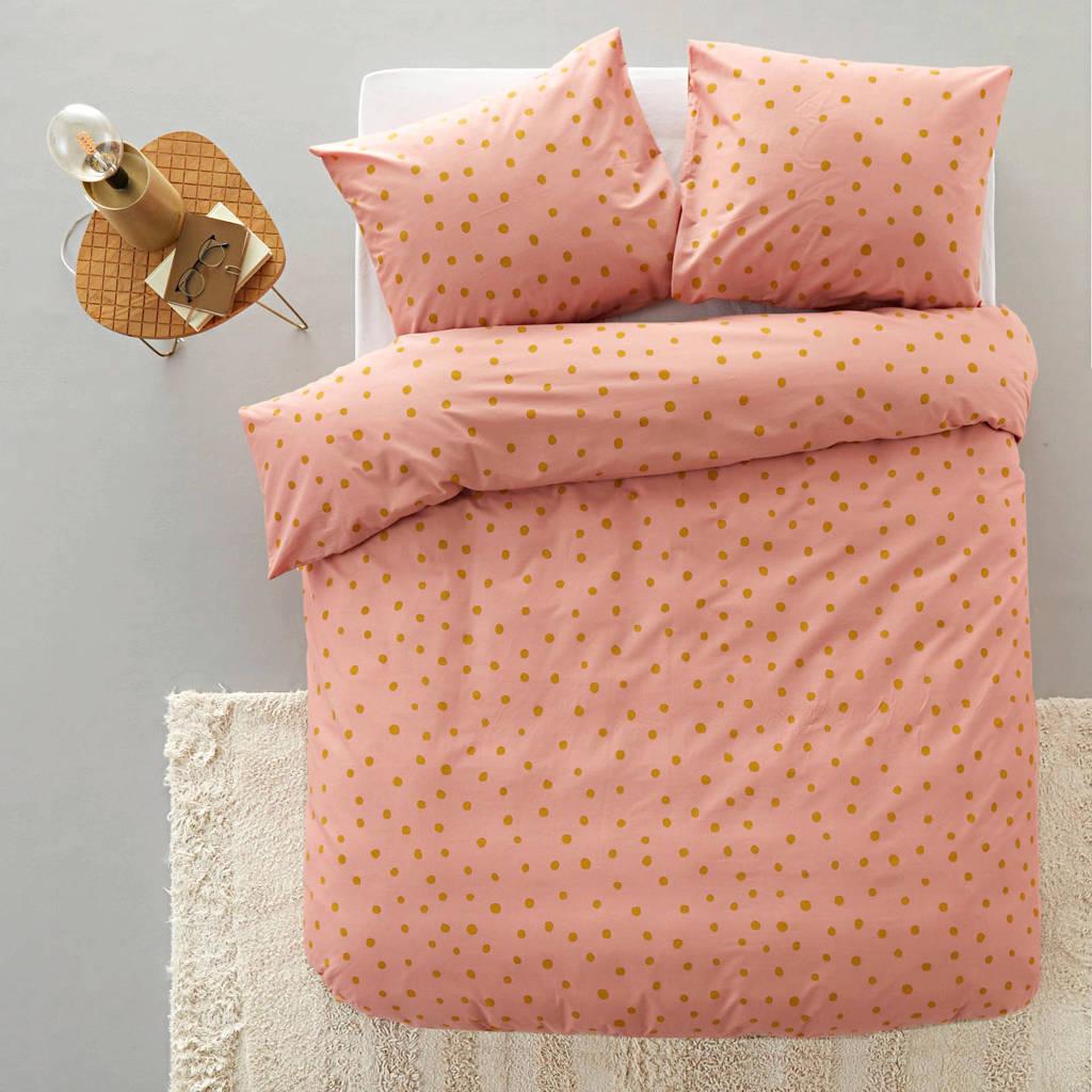 whkmp's own katoenen dekbedovertrek 1 persoons, Roze, 1 persoons (140 cm breed)