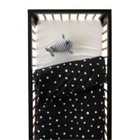 wehkamp home dekbedovertrek ledikant, Zwart/wit, Baby (100 cm breed)