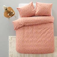 whkmp's own katoenen dekbedovertrek lits-jumeaux, Roze, Lits-jumeaux (240 cm breed)