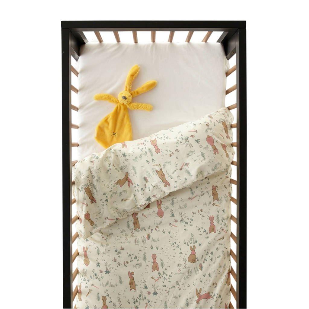 wehkamp home dekbedovertrek ledikant, Wit, Baby (100 cm breed)