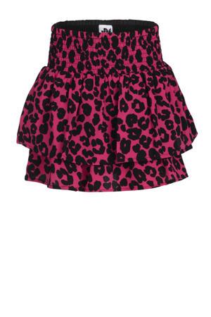 rok Alissa met panterprint roze/zwart