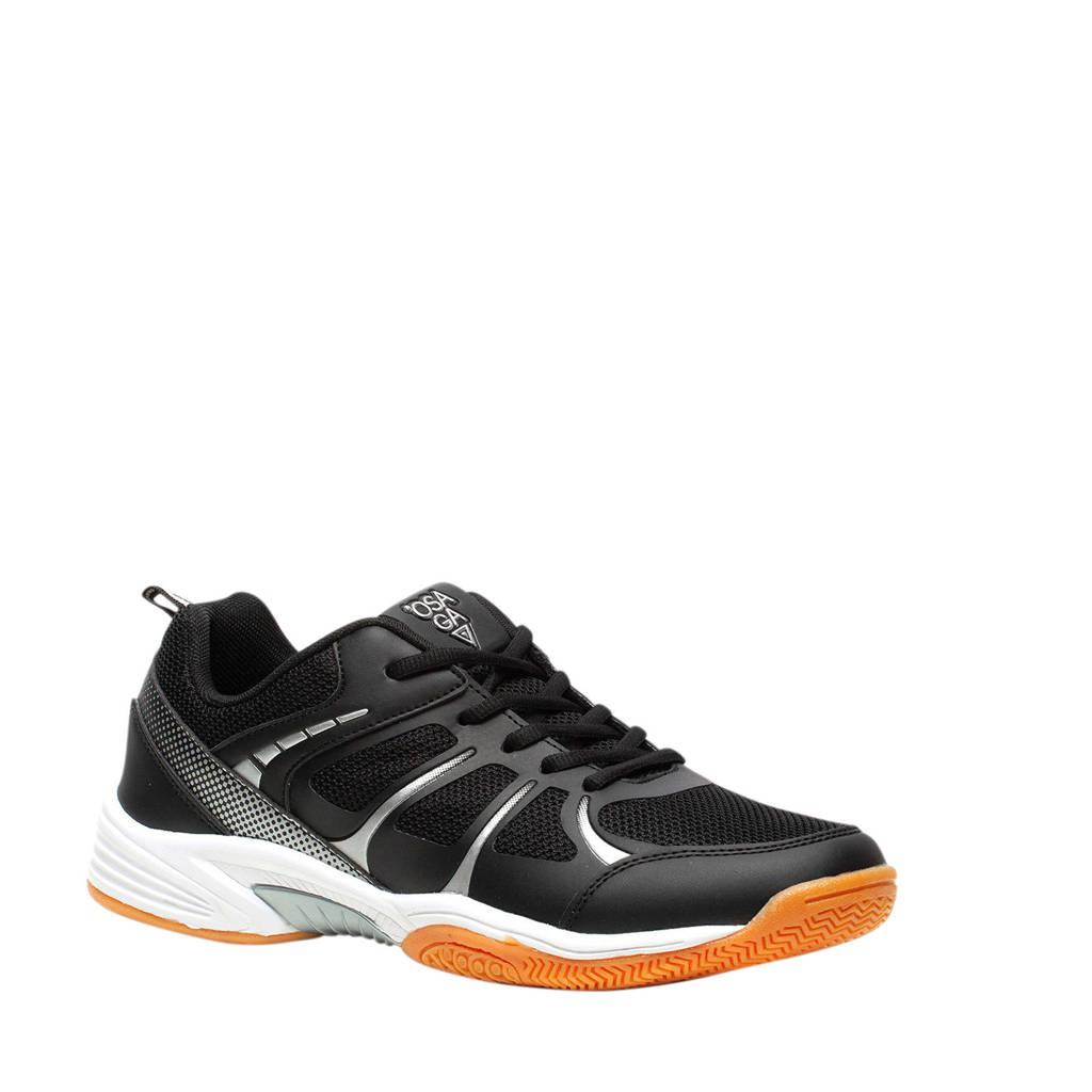 Scapino Osaga   zaalsportschoenen zwart/zilver, Zwart