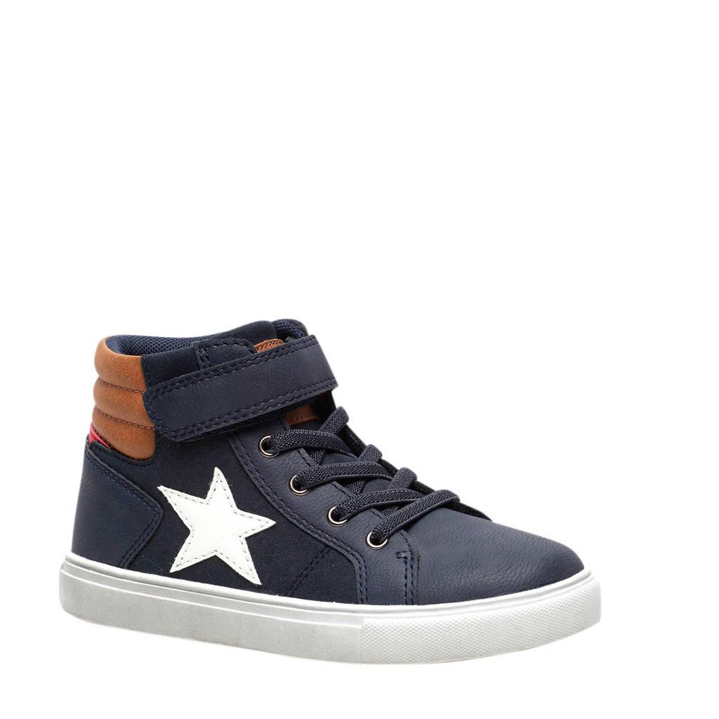 Scapino Blue Box   hoge sneakers donkerblauw, Donkerblauw