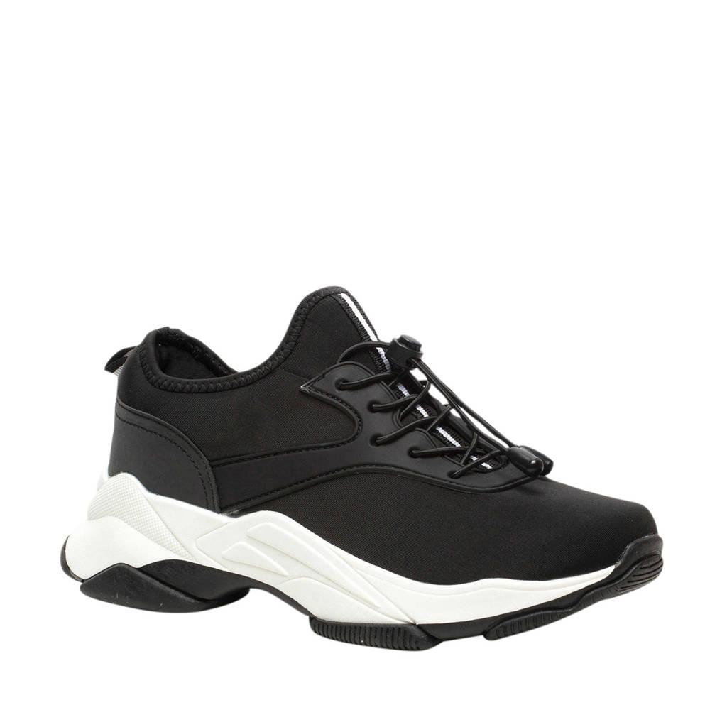 Scapino Blue Box   chunky dad sneakers zwart, Zwart