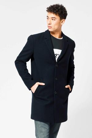 jas Jackson met wol donkerblauw