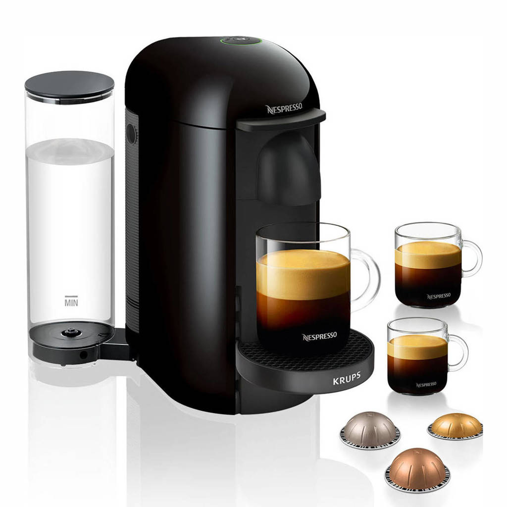 Krups XN9038 Nespresso VERTUO + (zwart), Zwart