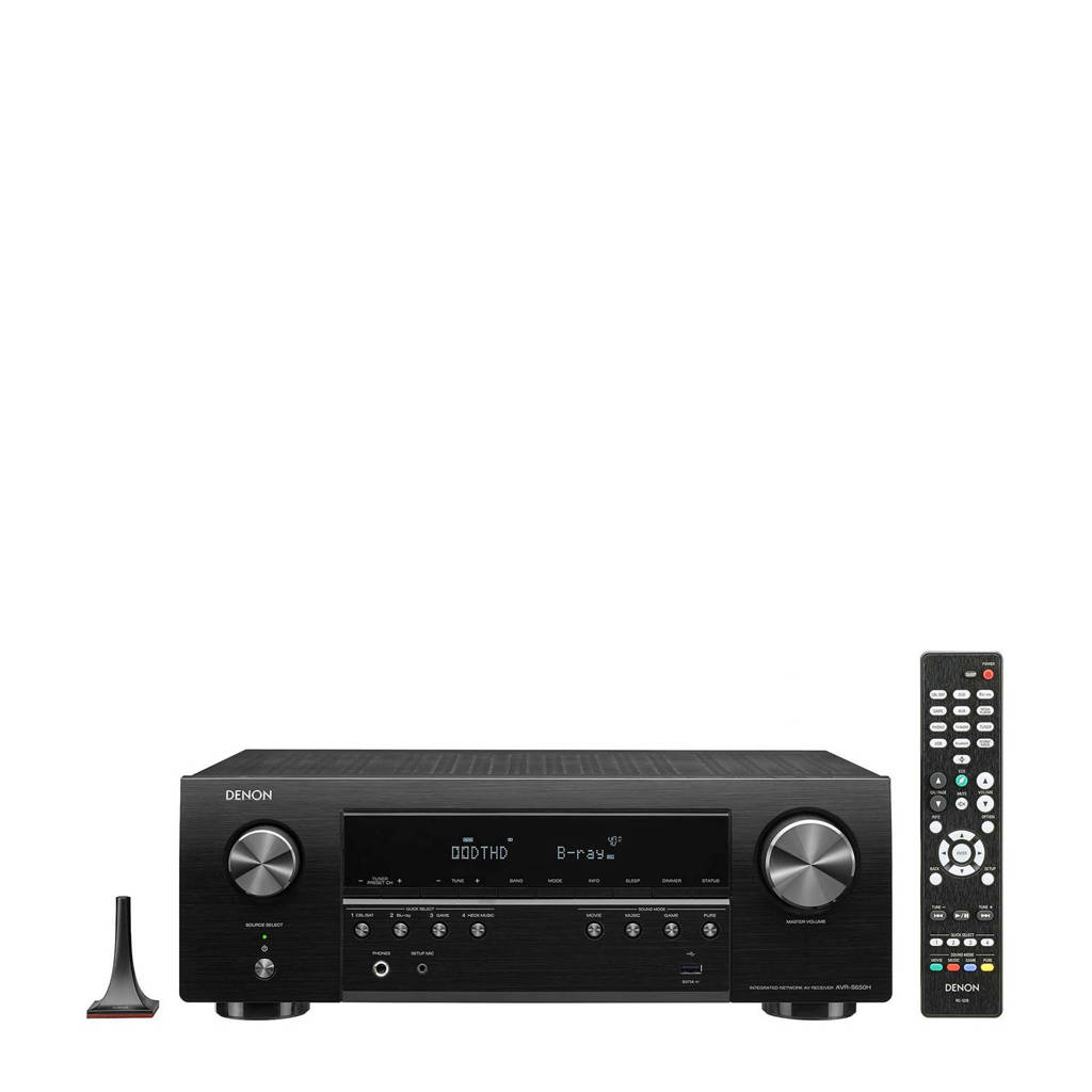 Denon AVR-S650H surround receiver, Zwart