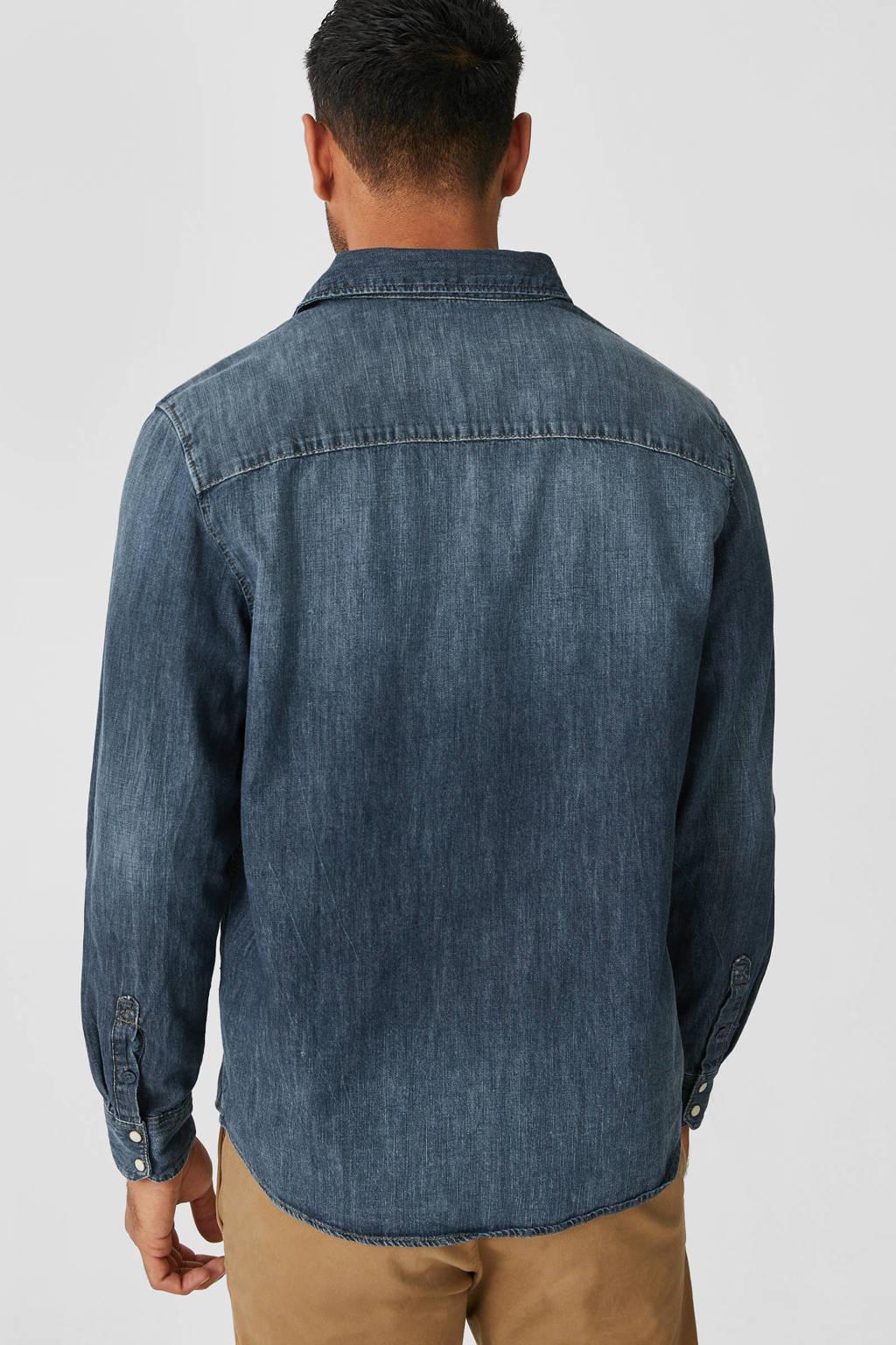 C&A The Denim regular fit denim overhemd blauw, Blauw